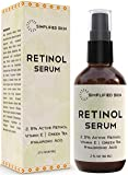 Retinol Serum 2.5% for Face & Eyes (2 oz) with Vitamin A, E, Hyaluronic Acid & Green Tea for Anti-Aging, Fine Lines…
