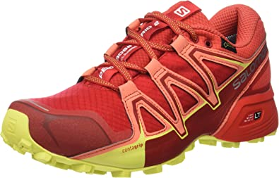 Salomon Speedcross Vario 2 GTX, Calzado de Trail Running, Impermeable para Mujer, Rojo (Barbados Cherry/Poppy Red/Sulphur Spring) , 41 1/3 EU: Amazon.es: Zapatos y complementos