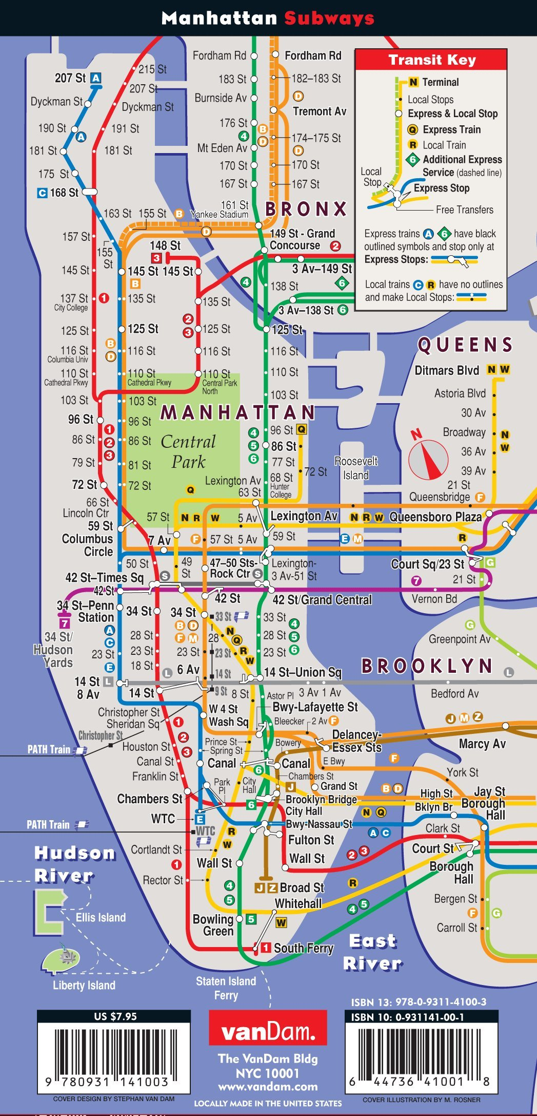 NYC Classic Unfolds PopUp Map By VanDam Laminated Pocket - Nyc unfolds map