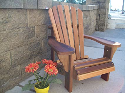 Amazon Com Wood Country T L Childs Adirondack Chair Cedar Stain