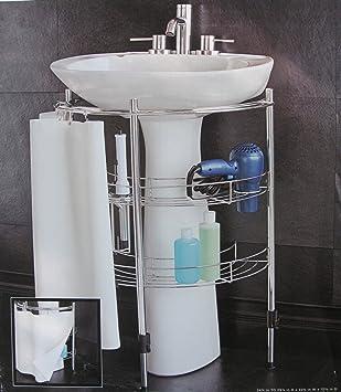 Pedestal+Sink+Storage   Amazon.com - Under Pedestal Sink Storage - Bathroom  Accessory Sets   New house   Pinterest   Pedestal sink storage, Bathroom ...