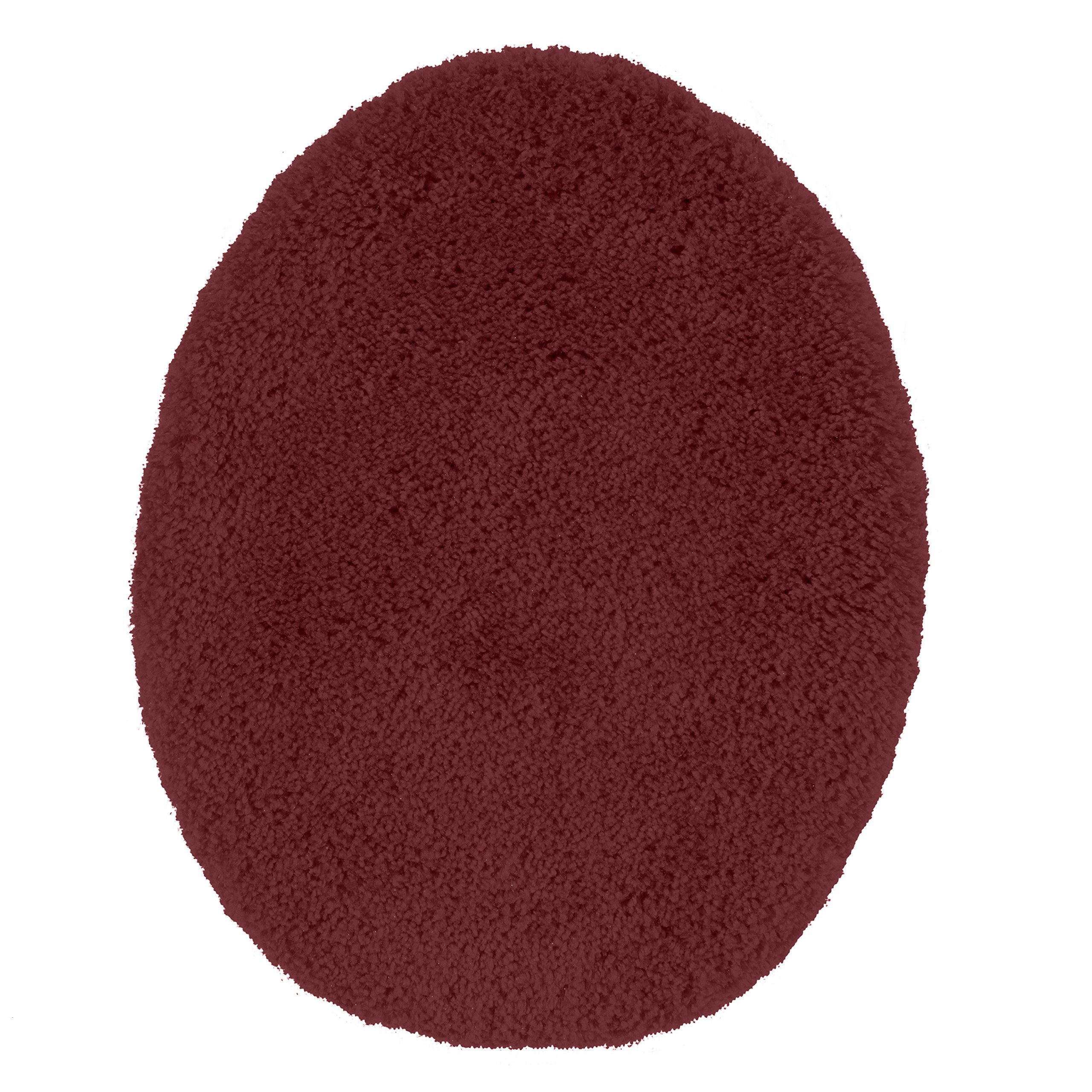 Maples Rugs Toilet Seat Cover Cloud Bath Washable Standard Lid [Made in USA] for Bathroom, Crimson Victory
