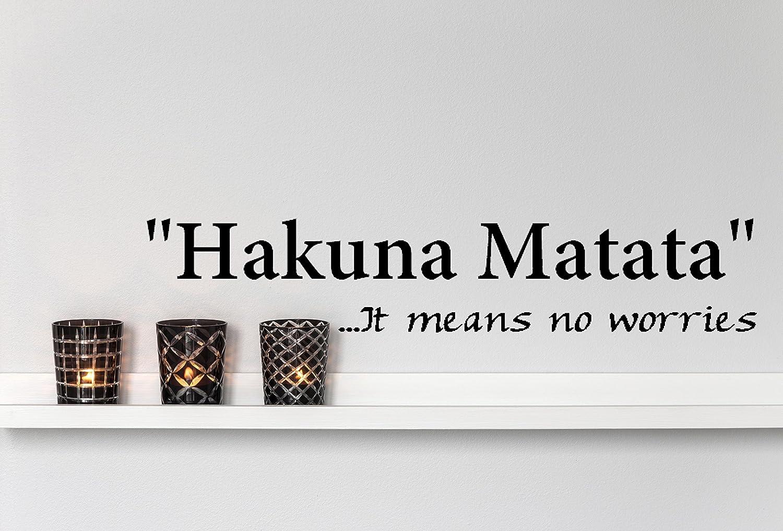 "Imprinted Designs Hakuna Matata. It Means No Worries Vinyl Wall Decal Sticker Art (4"" X 23"")"