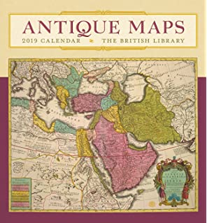 Antique Maps of the Americas Wall Calendar 2019 Art Calendar: Amazon ...