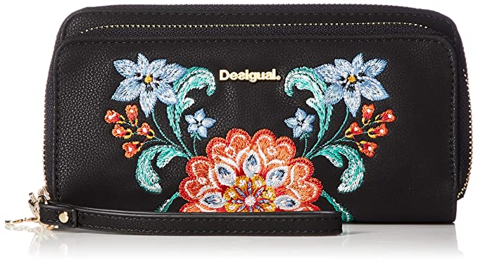 Desigual Odissey Two Levels Long Wallet Negro