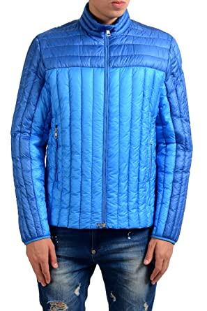 Moncler Men's Blue Full Zip Down Light Parka Jacket Size 3 US ...