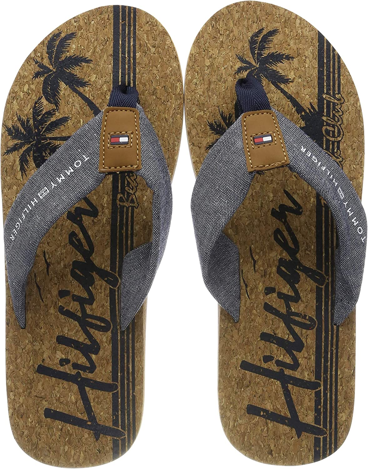 Tommy Hilfiger Chambray Beach Sandal, Chanclas para Hombre