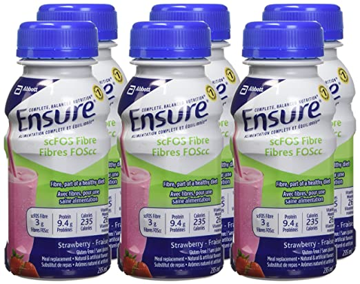 Amazon.com: Ensure With Scfos Strawberry, 235mL Bottle, 6-Pack: Health & Personal Care