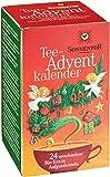 Sonnentor Tee Adventskalender, rot-grüne Spenderbox, 1er Pack (1 x 38 g) - Bio