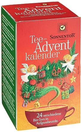 Weihnachtskalender Tee.Sonnentor Tee Adventskalender Rot Grüne Spenderbox 1er Pack 1 X 38 G Bio