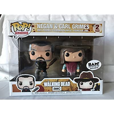 The Walking Dead Pop! Vinyl 2 Pack - Negan and Carl Grimes Funko: Toys & Games
