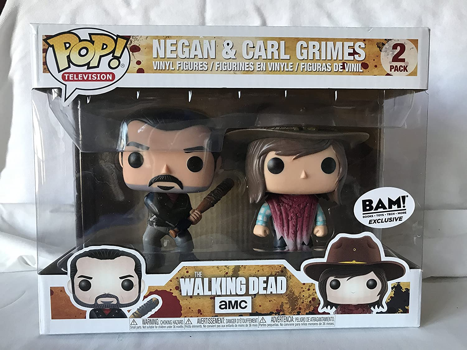 Funko - Figura Pop elaborada en Vinilo, The Walking Dead, Pack Doble con Negan y Carl Grimes, 21534: Amazon.es: Juguetes y juegos