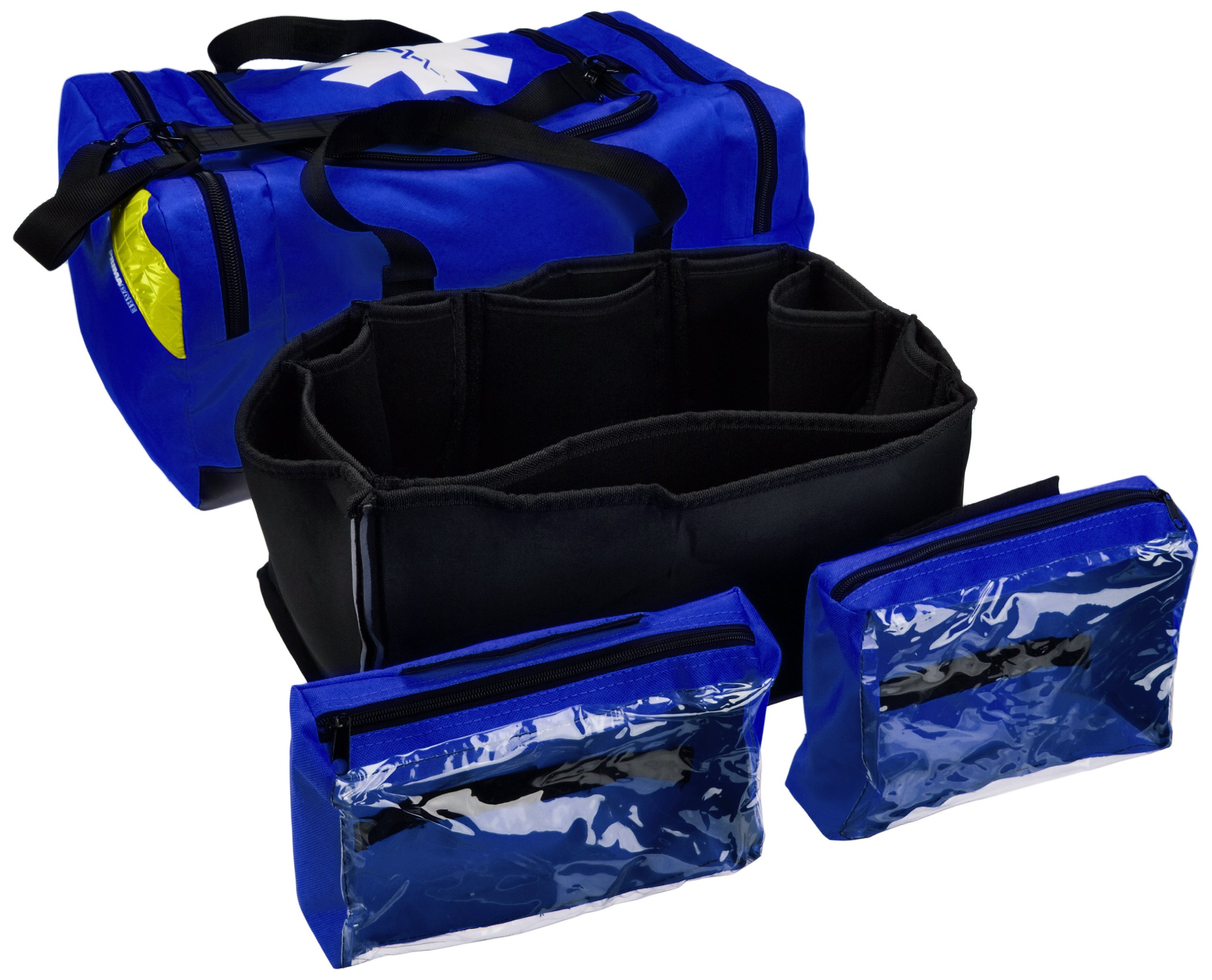 Primacare KB-4135-B First Responder Bag, 9'' Height x 21'' Width x 12'' Depth, Blue