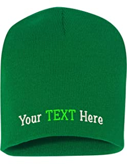 da3bda458b302 Peerless Skull Knit Hat With Custom Embroidery Your Text Here or Logo Here  One Size SP08