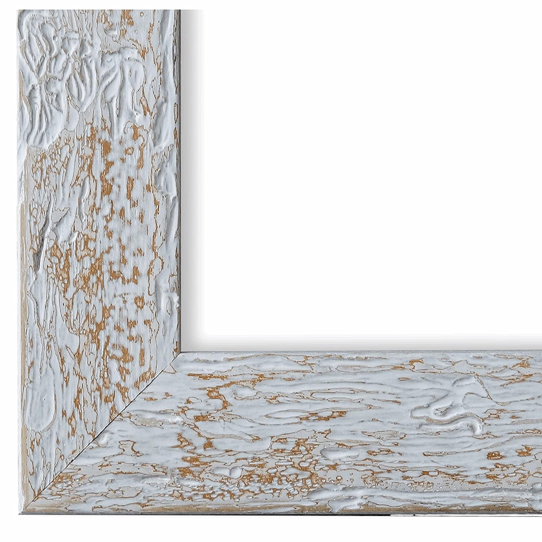 Online Galerie Bingold Bilderrahmen Weiß Beige 30 x 80 cm 30x80 - Modern, Retro, Vintage, Shabby - Alle Größen - Handgefertigt in Deutschland - WRF - Parma 4,0