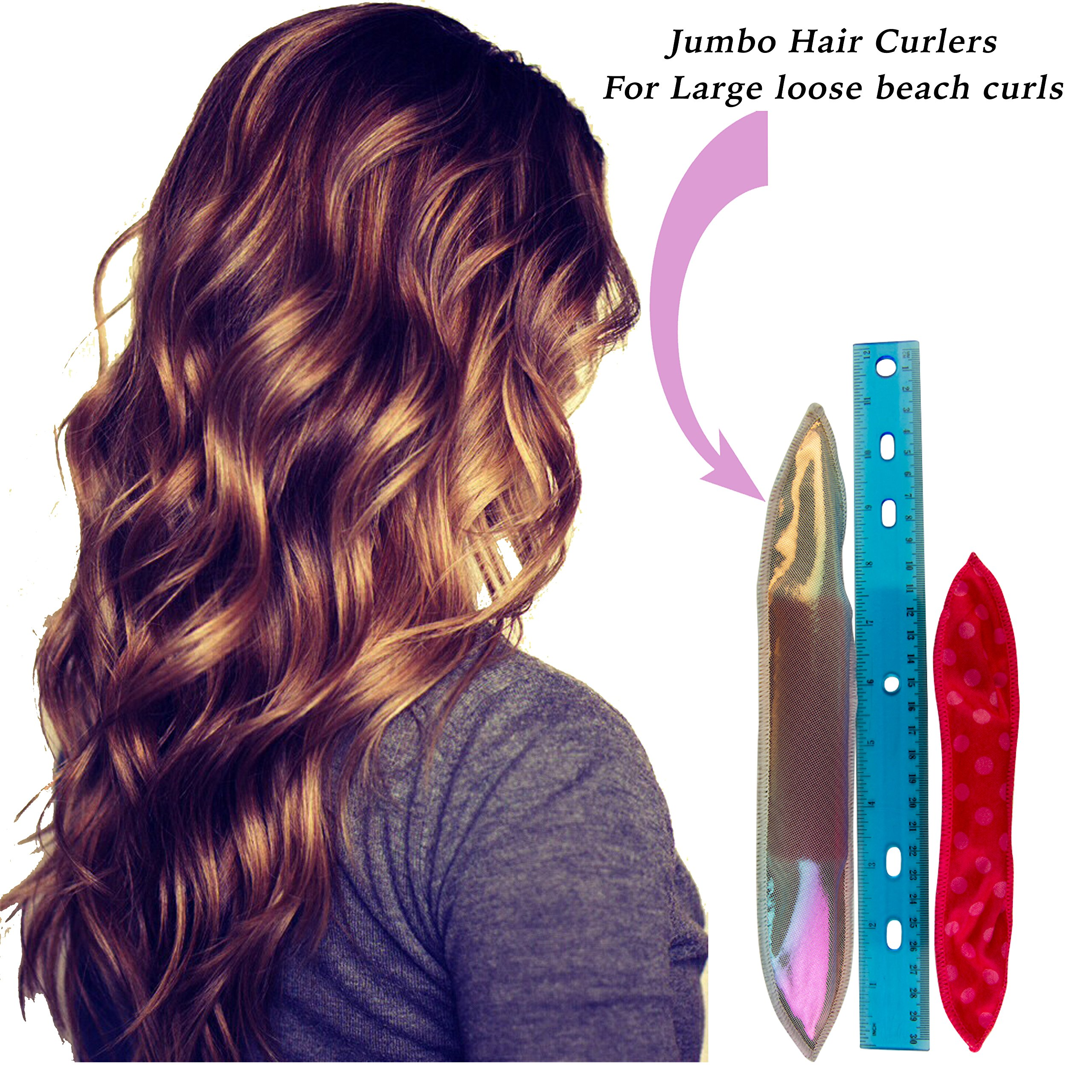 Jumbo over night hair curlers for large curls in when you wake up in the morning, Revolutionizing old fashion rods by Lee Beauty Professional (Image #1)