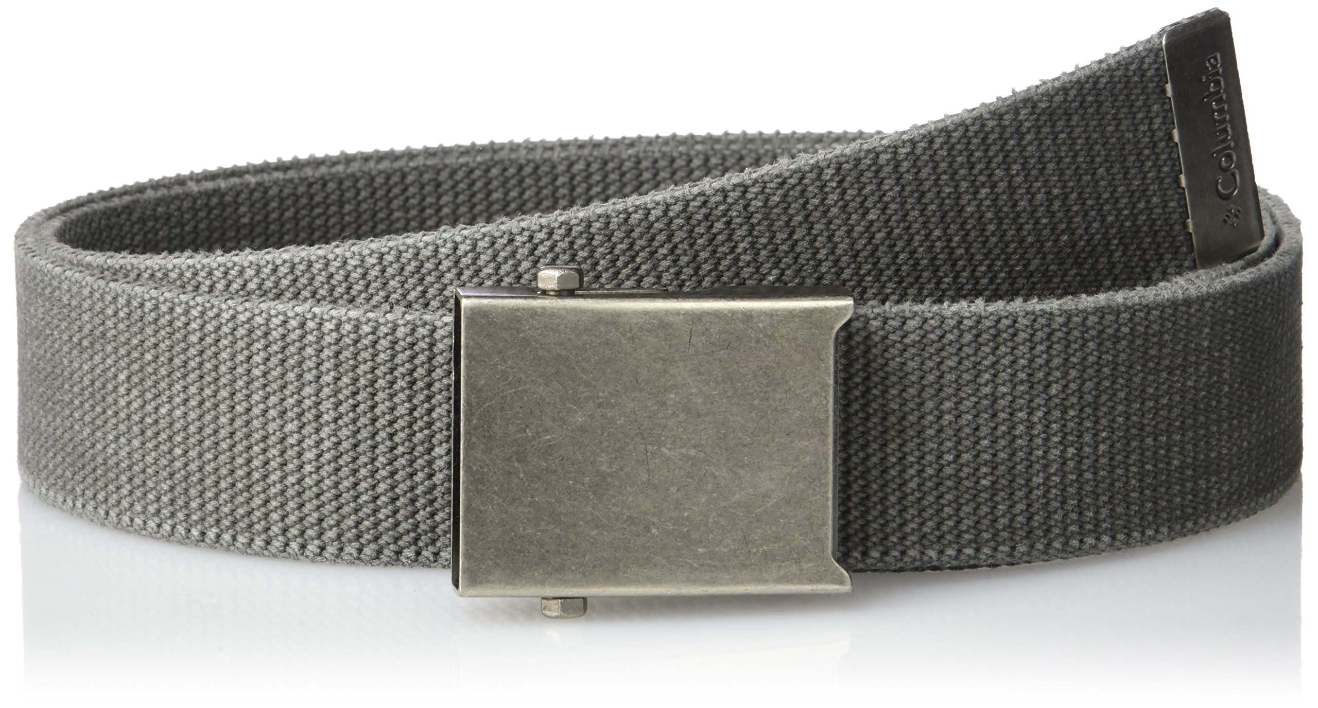 Columbia Men's Military-style Web Belt,Charcoal,42