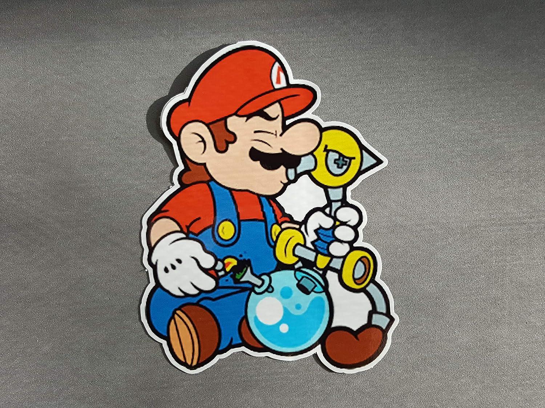 Marijuana sticker Decal Mario with a bong  Weed Super Mario