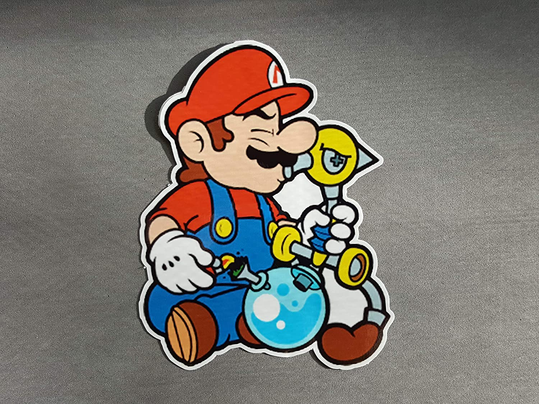 5 x 4 Weed Bong Mario Vinyl Decal Sticker