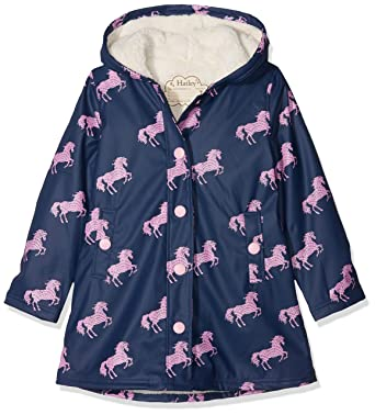 98151c5b5f32 Amazon.com  Hatley Girls  Sherpa Lined Splash Jacket  Clothing