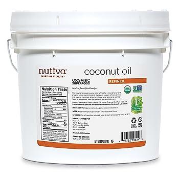 Nutiva Organic Steam Refined 128-oz Coconut Oil
