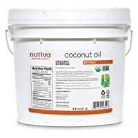 Nutiva Organic, Steam Refined Coconut Oil from non-GMO, Sustainably Farmed Coconuts...