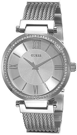 Damenuhren silber guess  Guess Damen-Armbanduhr Soho Analog Quarz Edelstahl W0638L1: Guess ...