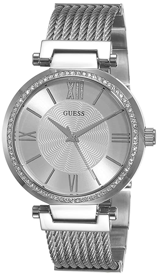a5ed15f226e1 Guess Reloj analogico para Mujer de Cuarzo con Correa en Acero Inoxidable  W0638L1  Guess  Amazon.es  Relojes
