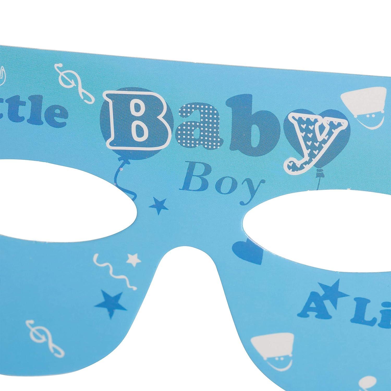 Platos Set Gafas y Gorro de Fiesta 19/Piezas con Guirnalda Relaxdays/ Puller Party Ni/ño Color Azul Claro /Baby Party Fiesta Juego