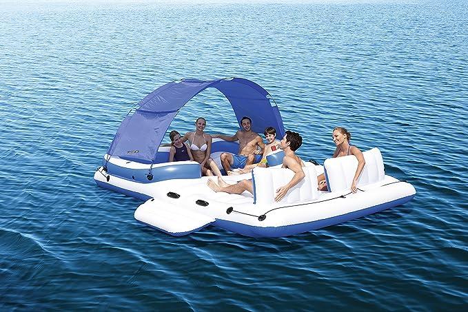 Bestway 43105 - Isla hinchable flotante, para 6 adultos 389x274 cm ...