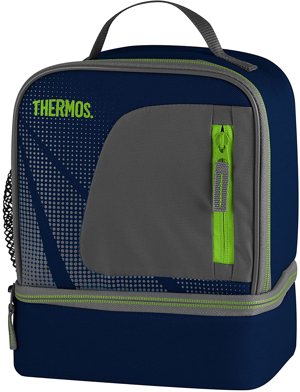 thermos radiance dual compartment lunch box kit bag blue navy school walking new. Black Bedroom Furniture Sets. Home Design Ideas