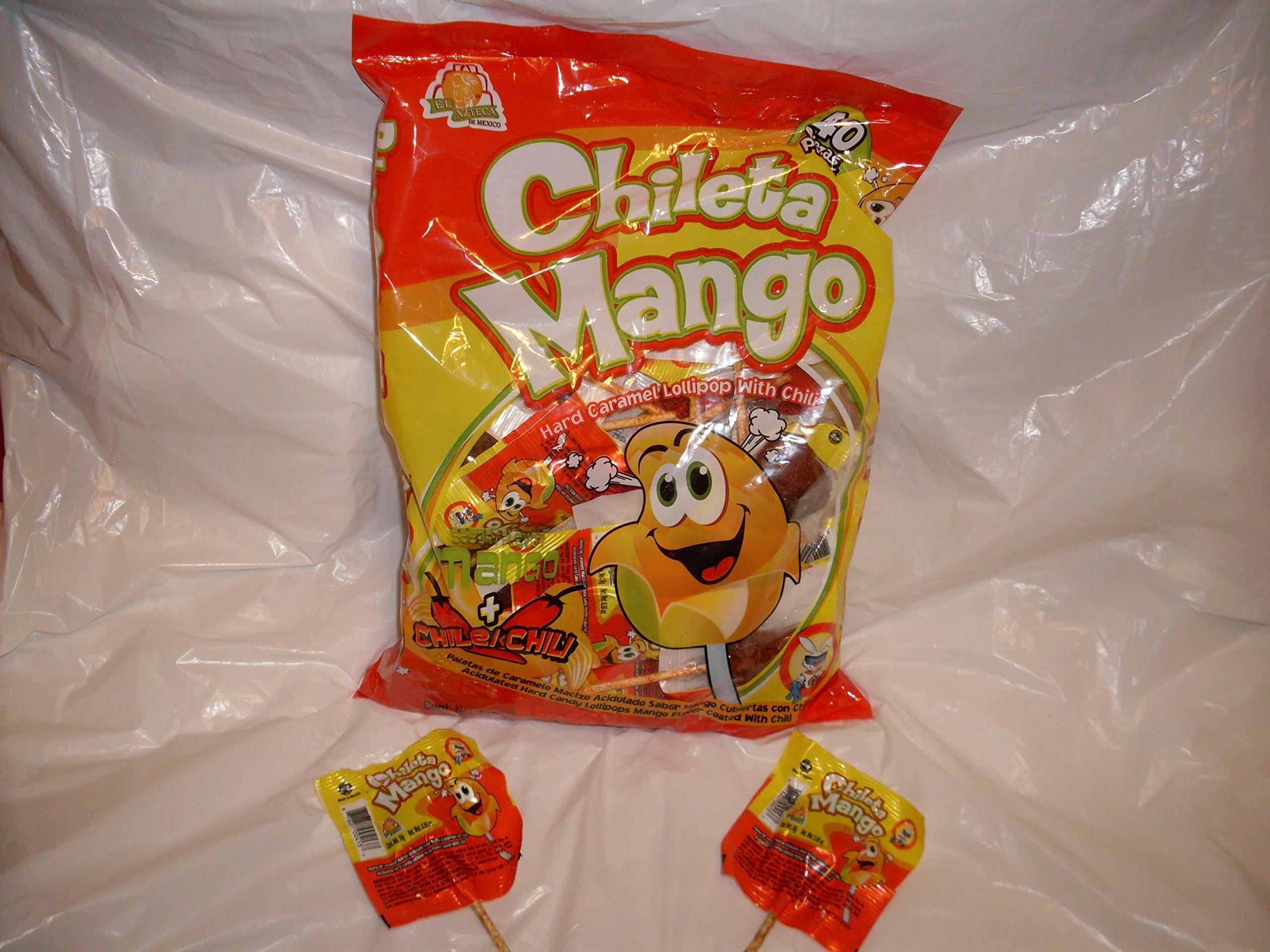 El Azteca Chileta Mango - Bag 40ct by El Azteca Chileta Mango