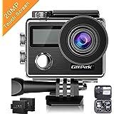 Campark X20 Action Cam 4K Touch Screen Action Camera WIFI, 20MP 170° Grandangolare con Custodia Impermeabile, doppio schermo LCD, remote control, EIS, 2 Batterie Ricaricabili 1050mAh e Kit Accessori