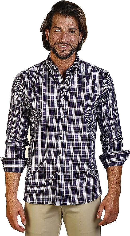 THE TIME OF BOCHA Camisa Hombre JI1VILLELA-435 Talla XS: Amazon.es: Ropa y accesorios