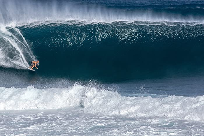 a28551f924 Image Unavailable. Image not available for. Color  Surfer riding a big wave  at Banzai Pipeline on the North Shore of Oahu in Hawaii