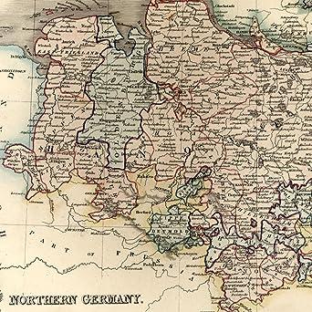 Amazoncom Northern Germany Hanover Mecklenburg c1840 old Dower
