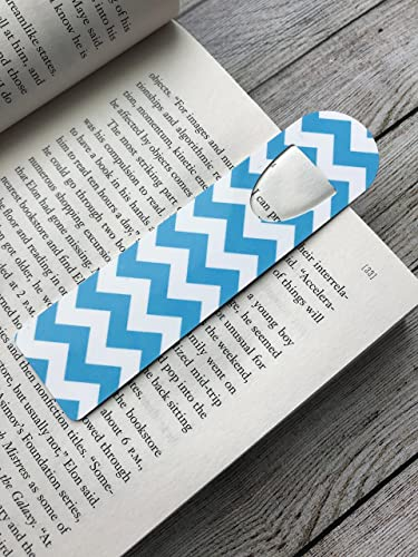 Amazon blue and white chevron pattern aluminum metal bookmark blue and white chevron pattern aluminum metal bookmark great gift for readers unique easter negle Choice Image