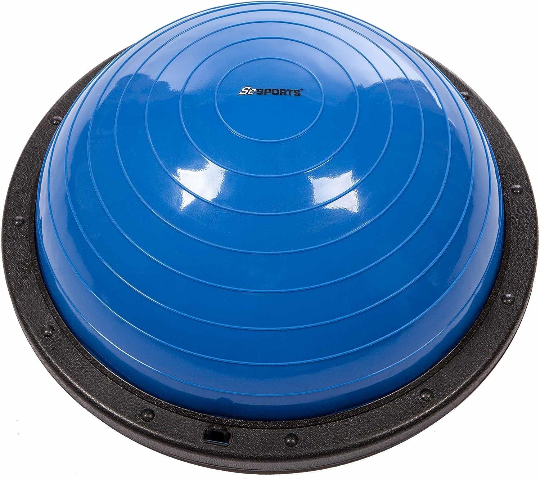 60 cm x 24cm ScSPORTS/® Balance Ball mit Zugb/ändern inkl Pumpe Vorder- und R/ückseite nutzbar