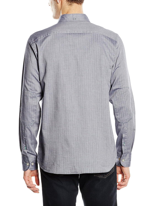 Macson Camisa Hombre Azul Grisáceo 39 cm (02): Amazon.es: Ropa y ...