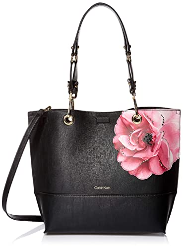 7db252cbd Amazon.com: Calvin Klein Sonoma Reversible Novelty North/South Tote, black  floral: Clothing