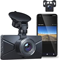 $69 » WiFi Dash Cam for Cars Front and Rear Dual Lens Crosstour 1080P Car Camera with 3 Inch IPS…