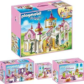 playmobil princess set en 4 parties 6848 6850 6851 6852 princesse chteau salon de - Playmobil Chambres Princesses