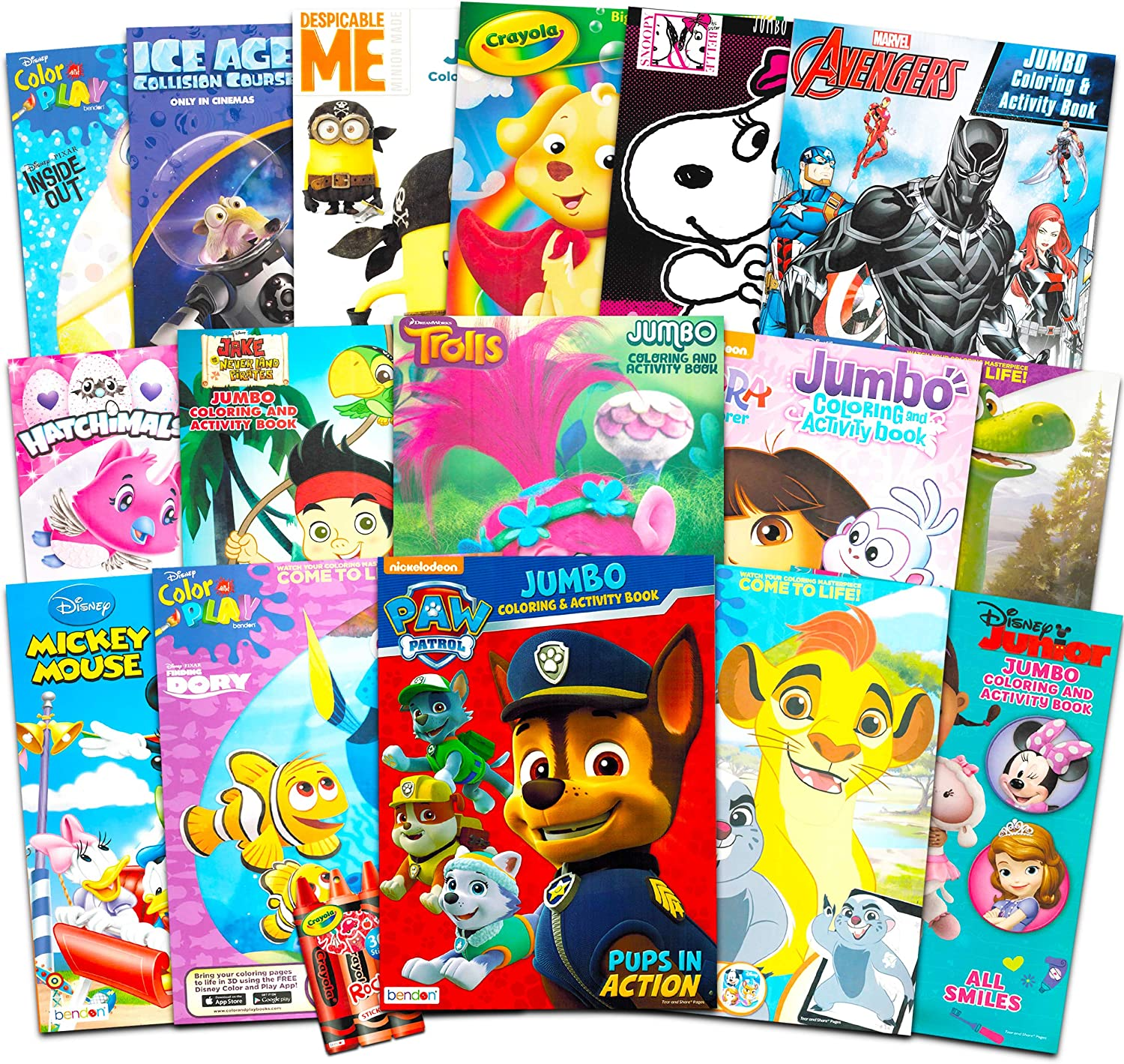 Amazon Com 16 Bulk Coloring Books For Kids Ages 4 8 Assortment Includes 16 Books With Games Puzzles Mazes And Stickers No Duplicates Toys Games