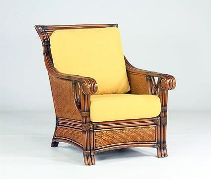 Amazon.com: South Sea Rattan Pacifica Chair in Walnut Finish ...