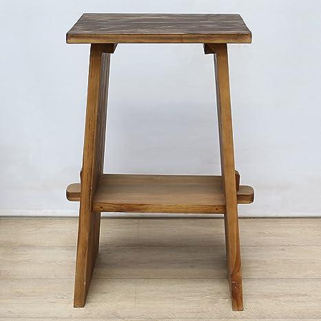 Madera – Mueble para lavabo mesa de muebles de baño mueble de baño teca Madera invitados