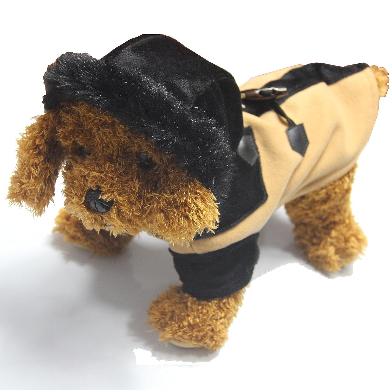 Beige M Beige M ALK Casual Winter Spring Warm Pet Dog Hoodie Coat Jacket Clothes Puppy Apparel Vest Beige M
