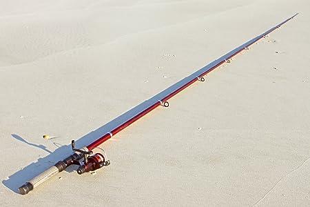 14ft 7 in 4.5M Telescoping Fiberglass Fishing Rod Reel Combo by FTUSA