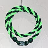 "Phiten Tornado Necklace: Forest Green/Optic Green 20"" Finished Length"