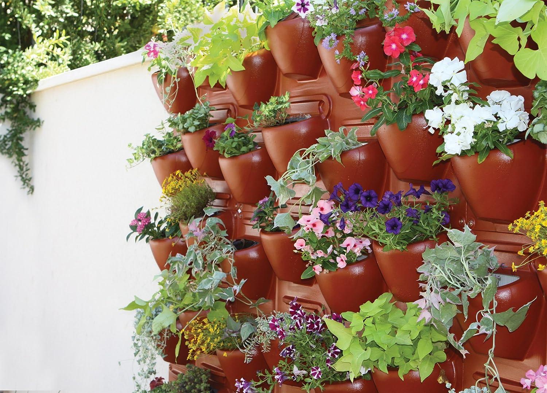 amazoncom palram plantscape vertical garden terra 2 pack garden outdoor - Vertical Garden