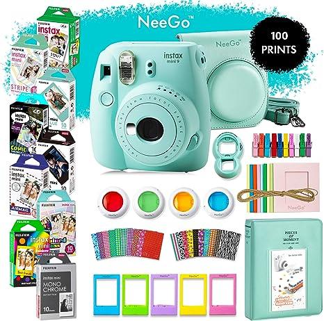 Reino Unido 10 en 1 Juego de paquetes de Accesorios de cámara para Fujifilm Instax Mini 8 9 Estuche Azul